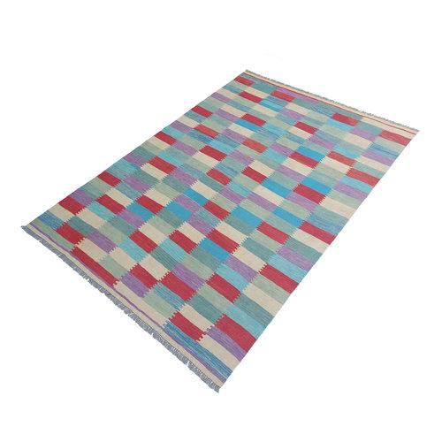 exclusive  Vloerkleed Tapijt Kelim 292x201 cm Kleed Hand Geweven Kilim