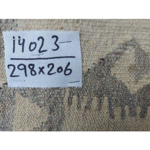 exclusive  Vloerkleed Tapijt Kelim 298x206  cm Kleed Hand Geweven Kilim