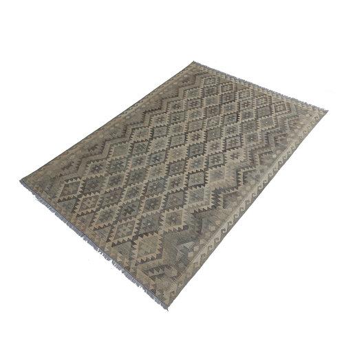 exclusive  Vloerkleed Tapijt Kelim 301x204 cm Kleed Hand Geweven Kilim