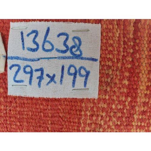 exclusive  Vloerkleed Tapijt Kelim 297x199 cm Kleed Hand Geweven Kilim