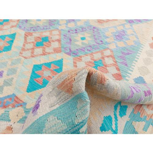 11'64 x 8'30 Sheep Wool Handwoven Multicolor Traditional Afghan kilim Area Rug