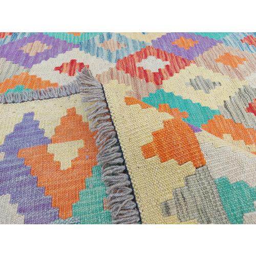 9'44x 8'62 Sheep Wool Handwoven Multicolor Traditional Afghan kilim Area Rug