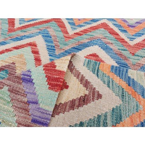 9'84 x 8'23Sheep Wool Handwoven Multicolor Traditional Afghan kilim Area Rug