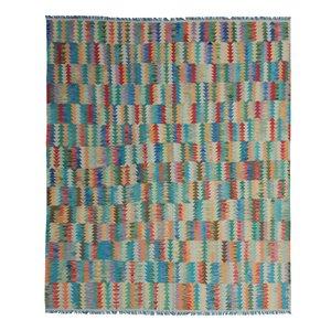 exclusive  Vloerkleed Tapijt Kelim 300 x 256 cm Kleed Hand Geweven Kilim