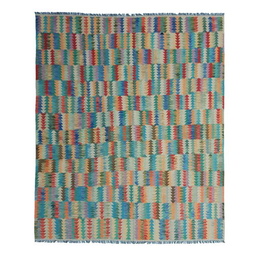 9'84 x 8'39Sheep Wool Handwoven Multicolor Traditional Afghan kilim Area Rug