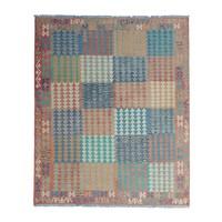 10'10 x 8'46Sheep Wool Handwoven Multicolor Traditional Afghan kilim Area Rug
