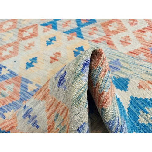 exclusive  Vloerkleed Tapijt Kelim 335 x 249 cm Kleed Hand Geweven Kilim - Copy