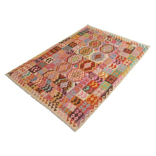 exclusive  Vloerkleed Tapijt Kelim 297x206 cm Kleed Hand Geweven Kilim