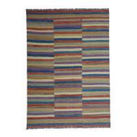 9'51x6'69 Sheep Wool Handwoven Multicolor Modern Afghan kilim Area Rug