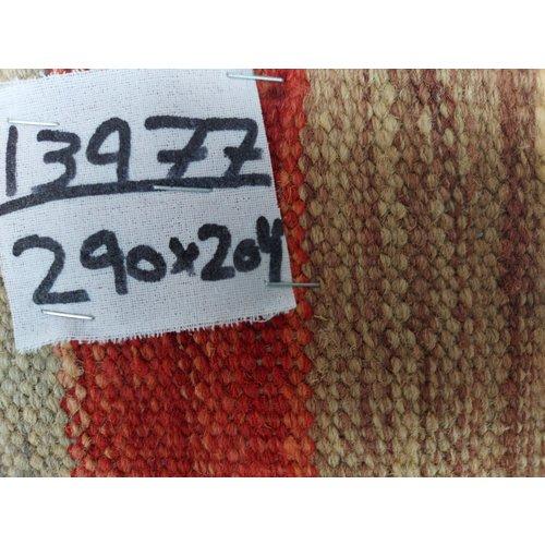 exclusive  Vloerkleed Tapijt Kelim 290x204 cm Kleed Hand Geweven Kilim