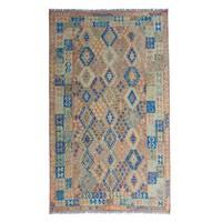 9'86x6'92 Sheep Wool Handwoven Multicolor Traditional Afghan kilim Area Rug