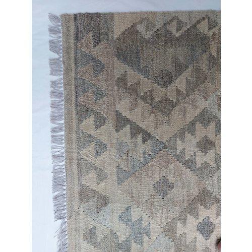 9'42x6'736 Sheep Wool Handwoven Natural Traditional Afghan kilim Area Rug