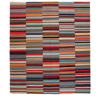 9'77x8'36 Sheep Wool Handwoven Multicolor Modern Afghan kilim Area Rug