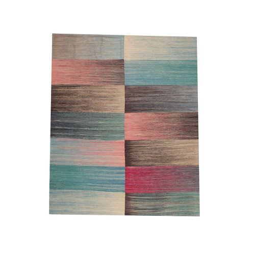 9'58x7'87 Sheep Wool Handwoven Multicolor Modern Afghan kilim Area Rug