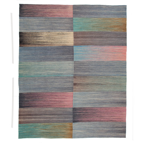 9'54x7'87  Sheep Wool Handwoven Multicolor Modern Afghan kilim Area Rug