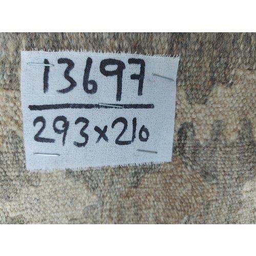 exclusive  Vloerkleed Tapijt Kelim 293x210 cm Kleed Hand Geweven Kilim