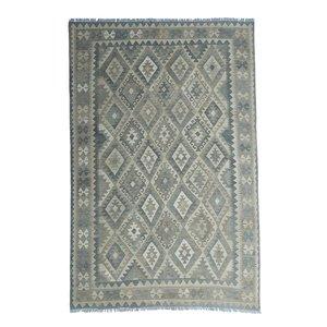 9'74x6'63 Sheep Wool Handwoven Natural Traditional Afghan kilim Area Rug