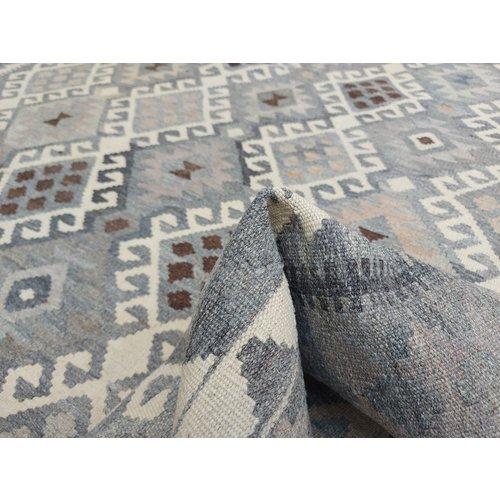 9'94x6'69 Sheep Wool Handwoven Natural Traditional Afghan kilim Area Rug
