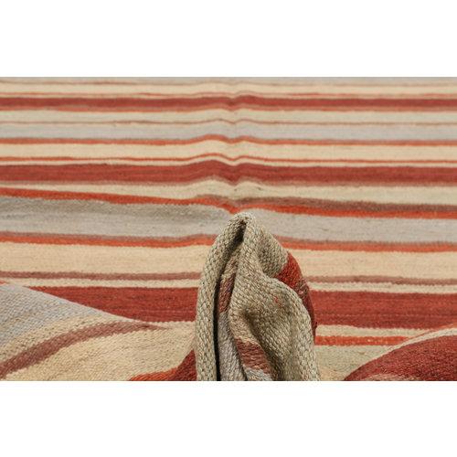 10'07x8'16  Sheep Wool Handwoven Multicolor Modern Afghan kilim Area Rug