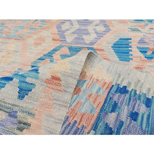 9'84x6'73 Sheep Wool Handwoven Multicolor Traditional Afghan kilim Area Rug