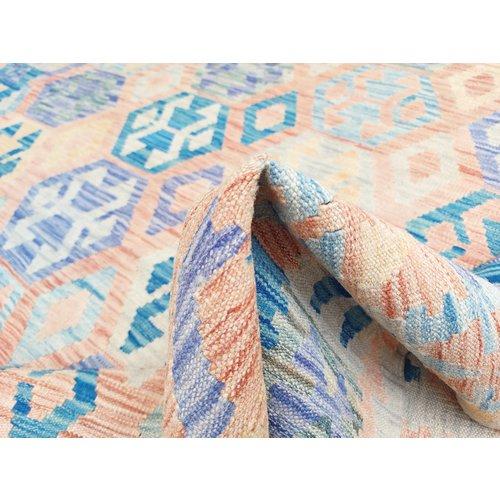 exclusive  Vloerkleed Tapijt Kelim 300x205 cm Kleed Hand Geweven Kilim