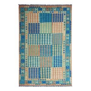 9'74x6'66 Sheep Wool Handwoven Multicolor Traditional Afghan kilim Area Rug
