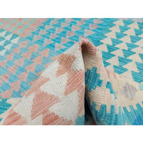 exclusive  Vloerkleed Tapijt Kelim 297x203 cm Kleed Hand Geweven Kilim