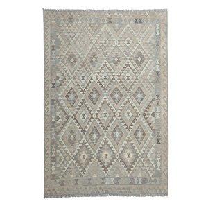 9'78x6'66 Sheep Wool Handwoven Natural Traditional Afghan kilim Area Rug