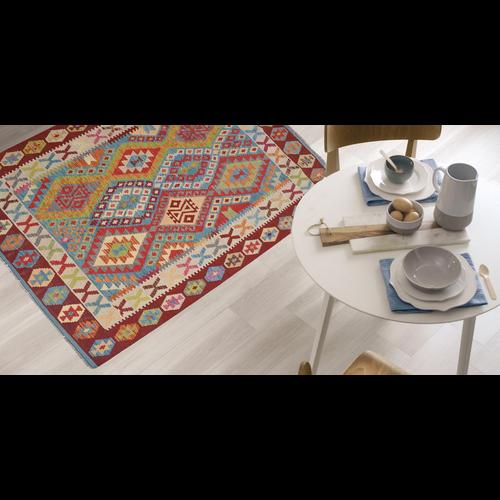 Ghazny  Quality Wool Hand woven 190x149 cm Afghan kilim Carpet Rug 6'2X4'8 ft