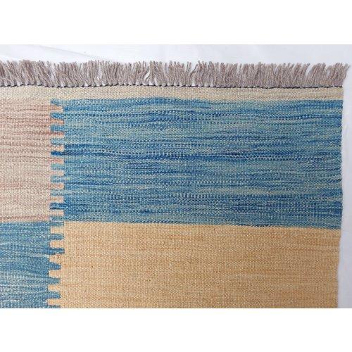9'71x6'46 Sheep Wool Handwoven Multicolor Modern Afghan kilim Area Rug