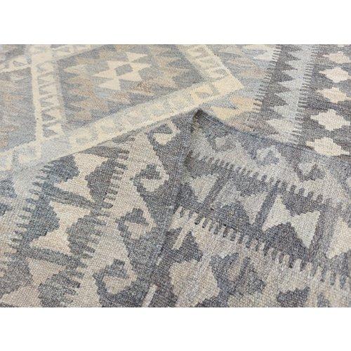 10'04x6'46 Sheep Wool Handwoven Natural Traditional Afghan kilim Area Rug