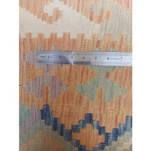 10'01x6'69 Sheep Wool Handwoven Multicolor Traditional Afghan kilim Area Rug