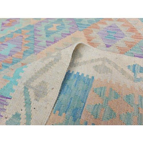 10'01x6'86 Sheep Wool Handwoven Multicolor Traditional Afghan kilim Area Rug