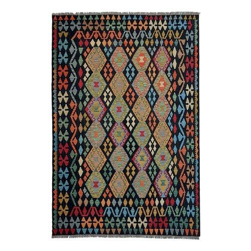 9'68x6'46Sheep Wool Handwoven Multicolor Traditional Afghan kilim Area Rug