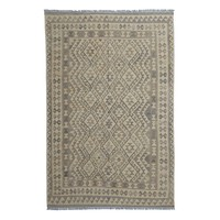 9'71x6'46 Sheep Wool Handwoven Natural Traditional Afghan kilim Area Rug