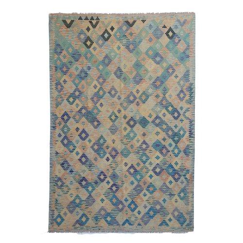 exclusive  Vloerkleed Tapijt Kelim 302x201 cm Kleed Hand Geweven Kilim