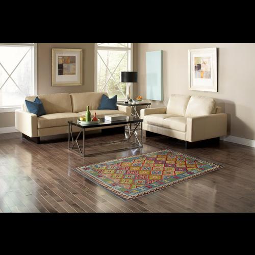 8'03X5'74 Geometric Hand woven wool kilim Carpet Kelim Rug 245X175 cm