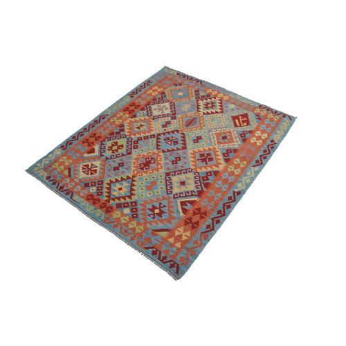 Kelim Kleed 191x151 cm Vloerkleed Tapijt Kelim Hand Geweven