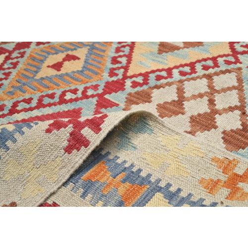 Sheep Wool Hand woven 198x147 cm Afghan kilim Carpet Kilim Rug 6'4X4'8 ft