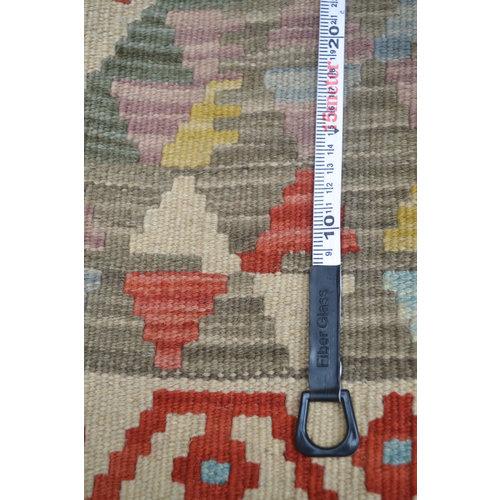 Vloerkleed Tapijt Kelim  194x158  cm Kleed Hand Geweven Kelim