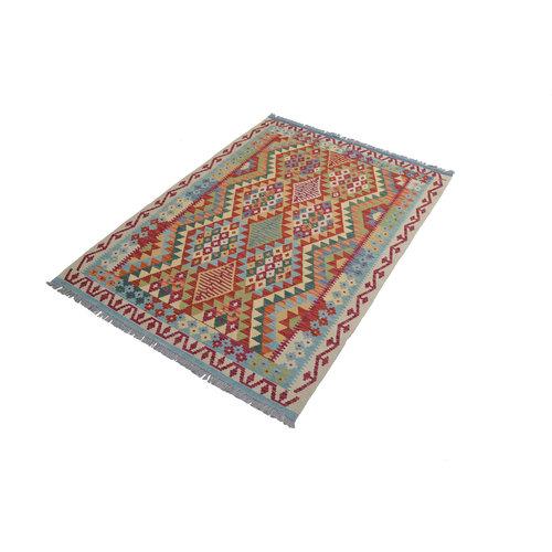 Sheep Quality Wool Hand woven  200x147  cm Afghan kilim Carpet Kilim Rug 6'5x4'8 ft