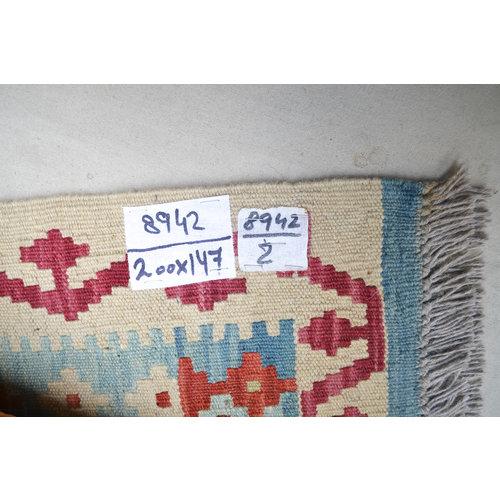 Vloerkleed Tapijt Kelim   200x147 cm Kleed Hand Geweven Kelim