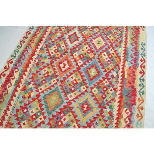Kelim Kleed 188x148 cm Vloerkleed Tapijt Kelim Hand Geweven