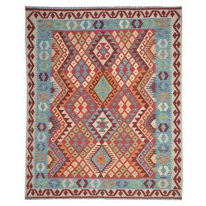 Oriental Hand woven wool kilim Carpet Kilim Rug 6'20X5'08 or 189x155 cm