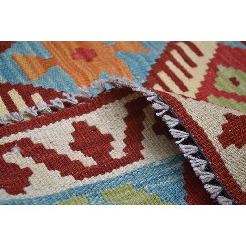 Kelim Kleed 189x155 cm Vloerkleed Tapijt Kelim Hand Geweven