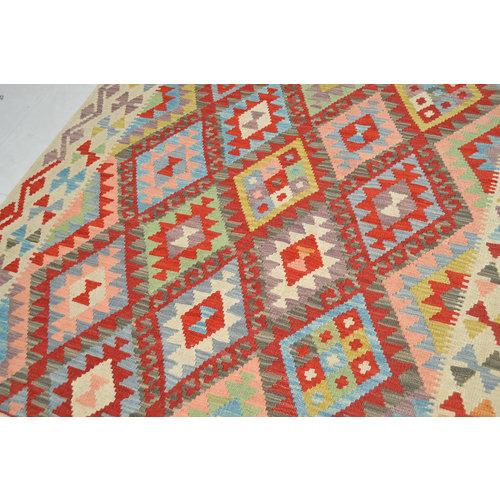 Kelim Kleed 188X154 cm Vloerkleed Tapijt Kelim Hand Geweven