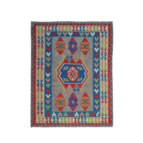 Kelim Kleed 186X147 cm Vloerkleed Tapijt Kelim Hand Geweven