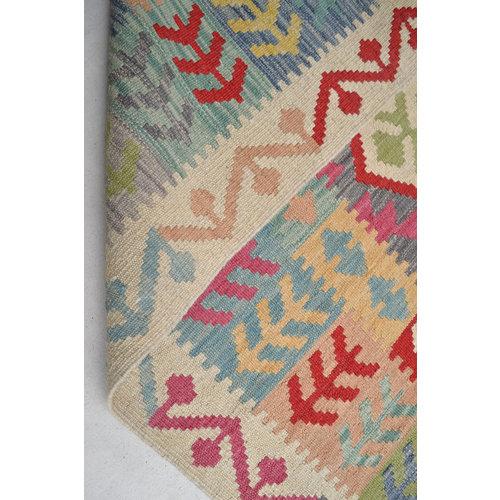 Kelim Kleed 190x152 cm Vloerkleed Tapijt Kelim Hand Geweven