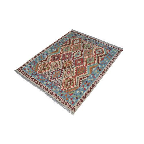 Ghazny  Quality Wool Hand woven 200x158 cm Afghan kilim Carpet Kilim Rug 6'5X5'1 ft