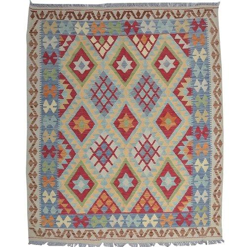 Kelim Kleed 196X156  cm Vloerkleed Tapijt Kelims Hand Geweven